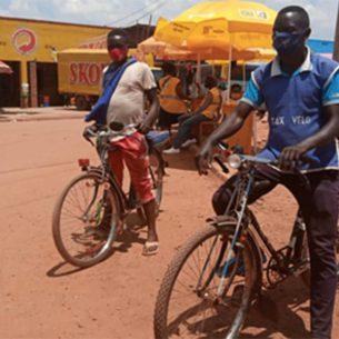 Taxi-velo informal workers in Rwanda Source: Rwanda COVID-19 research group
