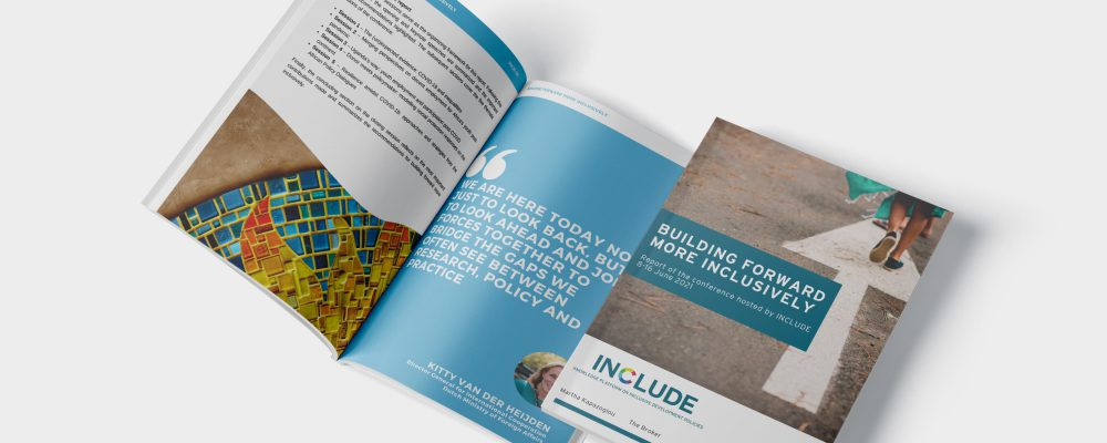INCLUDE 2021 Conference report Building forward more inclusively-cover